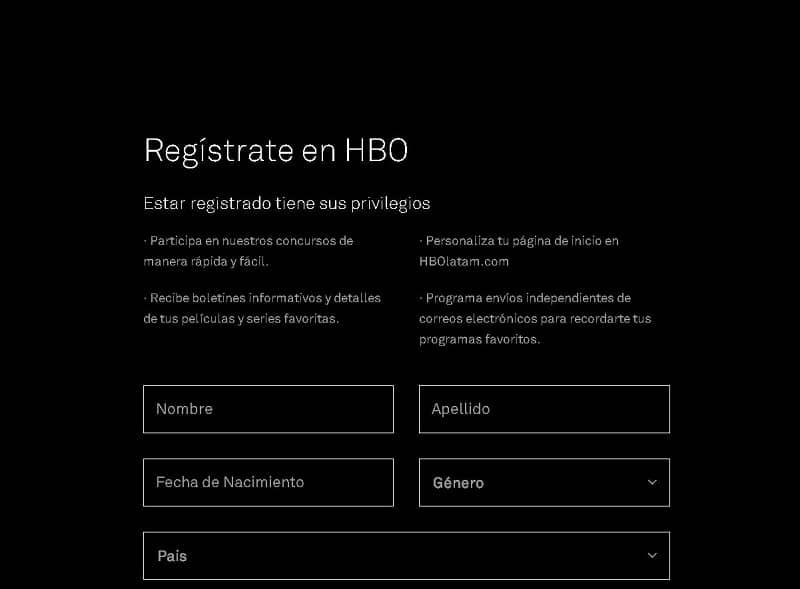Cómo Crear una Cuenta en HBO