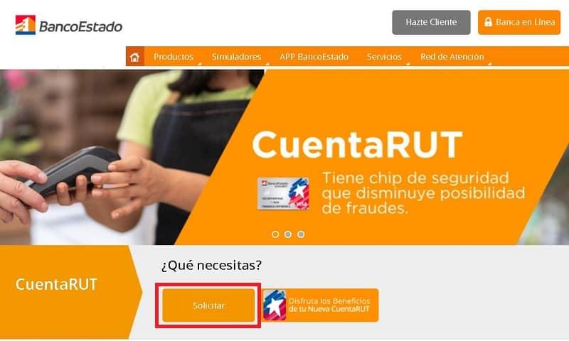 Solicitar cuenta RUT en línea